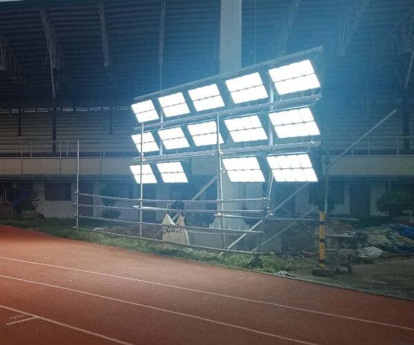 LED Flood Light Retrofit for Stadium