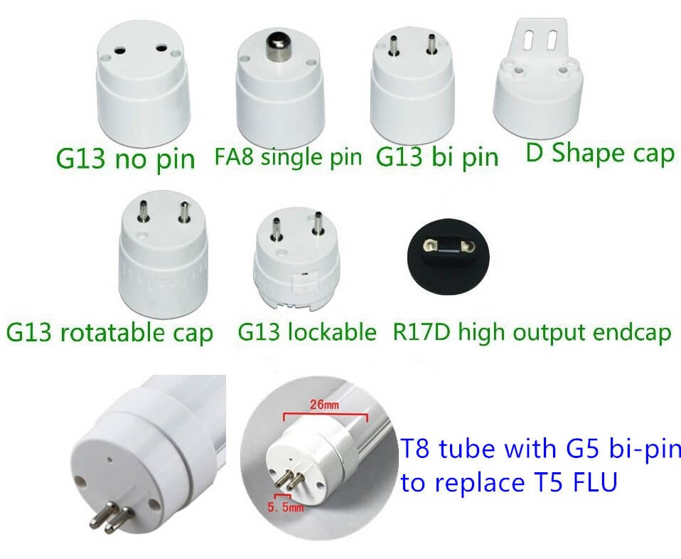 t8 different pins
