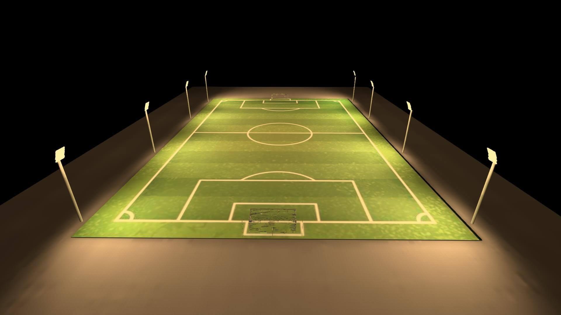 Dialux-Soccer-field-200W-Flood-Light-LED-HD