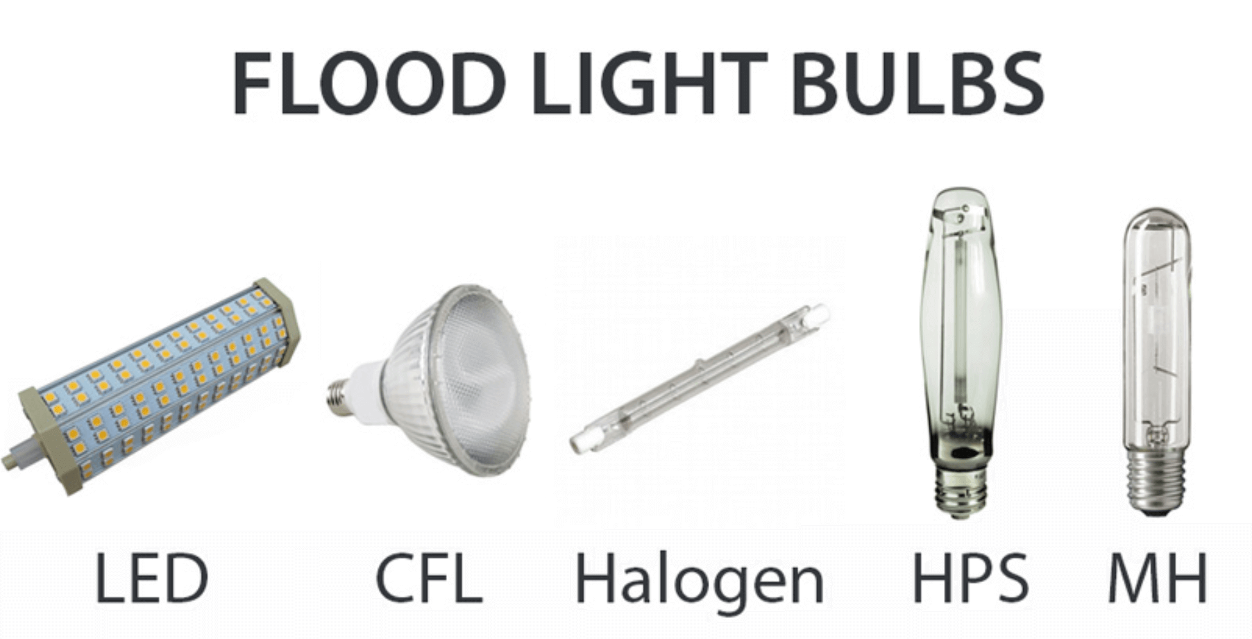 How do LED flood lights compare to other types of flood lights