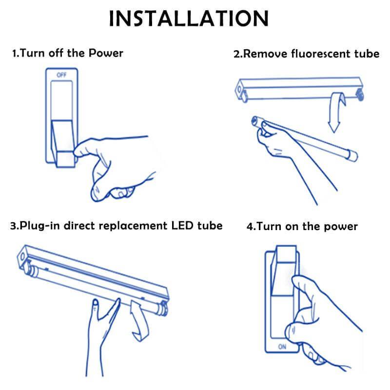 Installation Guide of T5 LED Light