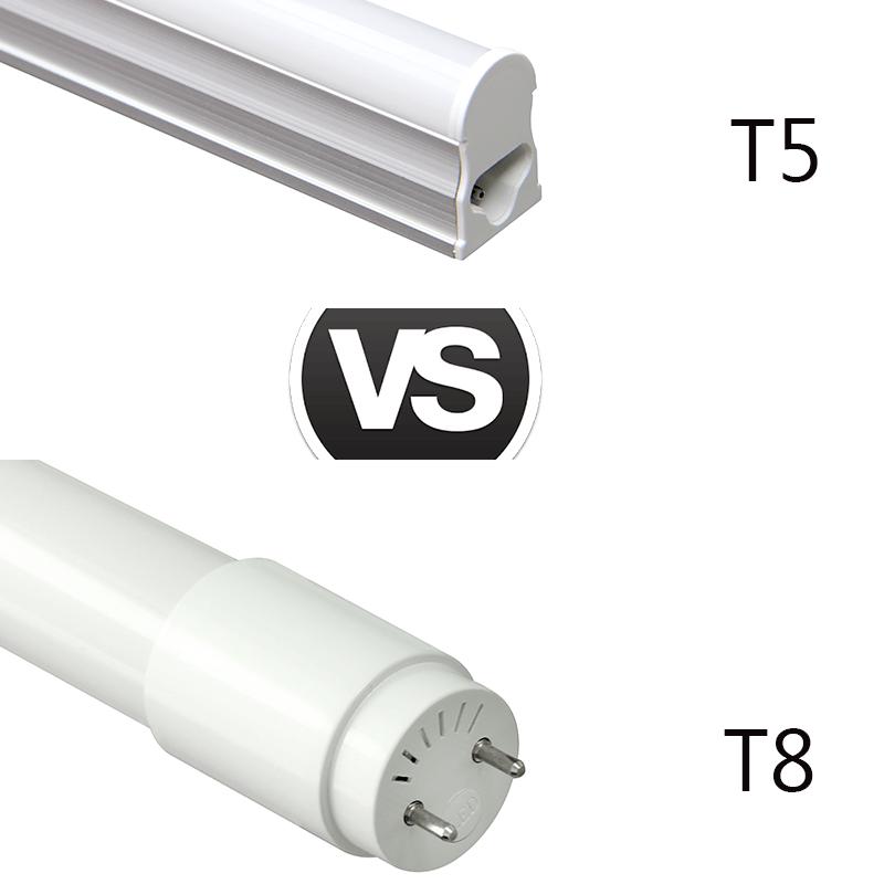 T5 LED Light vs. T8 LED Light