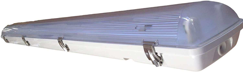 A vapor tight fluorescent fixture for damp locations