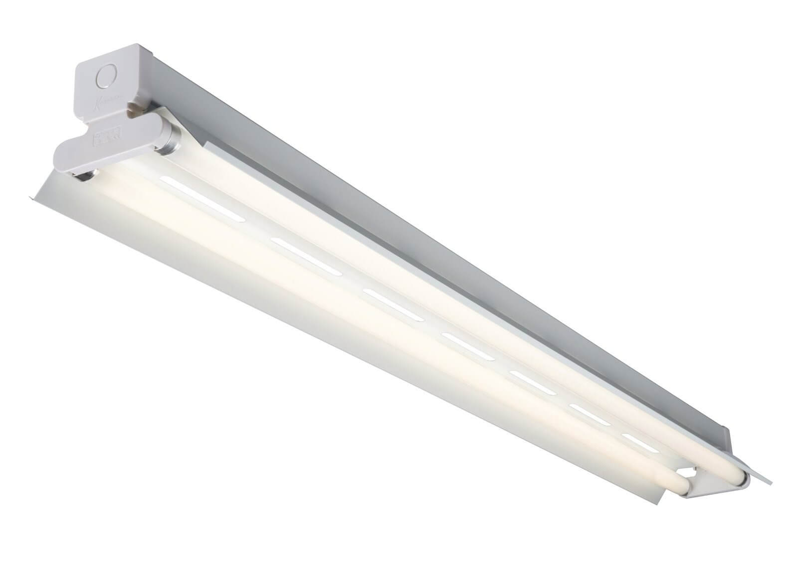 Fluorescent light fixture with tube lights