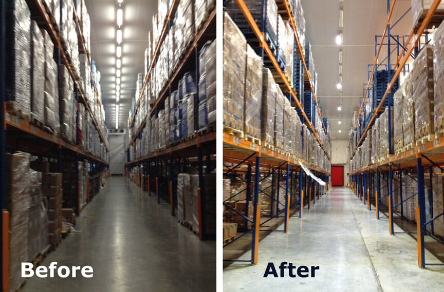 Linear High Bay Lights in Cold Storage