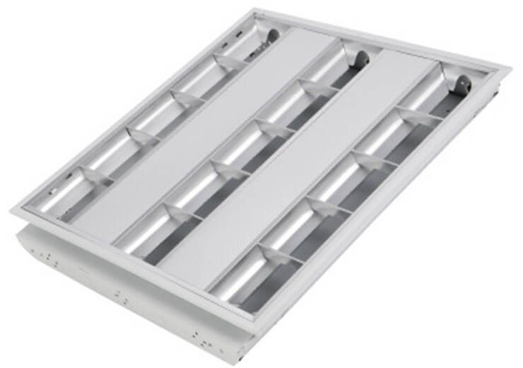 2x18w Grille Fixture