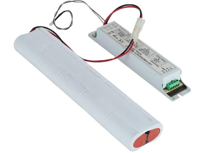 Emergency Battery Backup for Fluorescent Light Fixtures