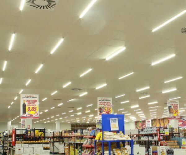 led fluorescent light fixture for supermarket lighting