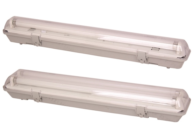 Waterproof Fixture for fluorescent bulb led replacement